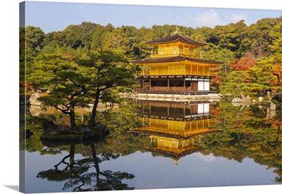 Asia, Japan, Honshu, Kansai Region, Kyoto, Kinkaku-ji or The Golden Pavilion