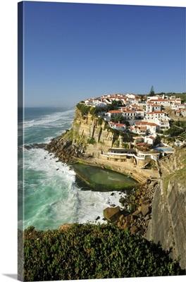 Azenhas do Mar, near Sintra, in front of the Atlantic Ocean, Portugal