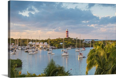Bahamas, Abaco Islands, Elbow Cay, Hope Town, Elbow Reef Lighthouse
