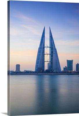 Bahrain, Manama, Bahrain Bay, View of Bahrain World Trade Center