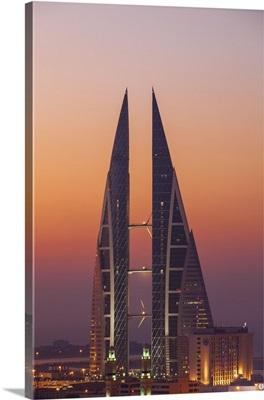 Bahrain, Manama, View of Bahrain World Trade Center