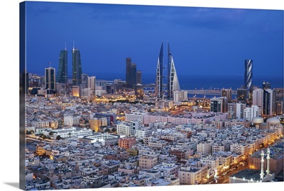 Bahrain, Manama, View of city skyline