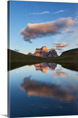 Baste Lake, Eastern Dolomites, San Vito di Cadore, Belluno, Veneto, Italy