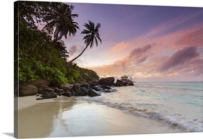 Beach At Sunrise, Mahe, Seychelles