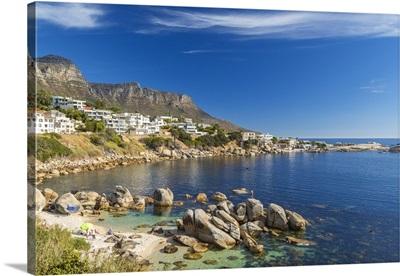 Beach near Camps Bay in Cape Town, Western Cape, South Africa