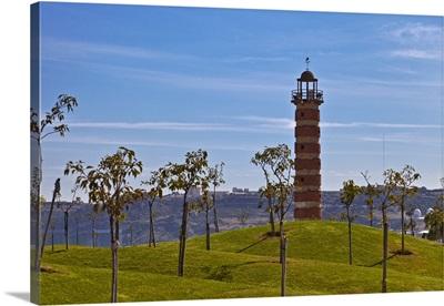 Belem Lighthouse at the entrance to the River Tagus Estuary, Lisbon, Portugal