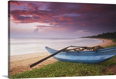 Bentota beach at sunset, Western Province, Sri Lanka