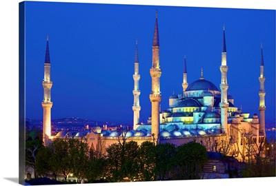 Blue Mosque at Dusk, Istanbul, Turkey
