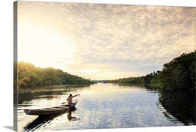 Brazil, Brazilian Amazon, Amazonas state, Amazon Ecopark lodge scenes
