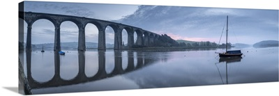 Brunel's St. German's Viaduct At Dawn, St German's, Cornwall, England