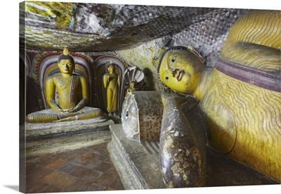 Buddha statues in Cave 5 of Cave Temples Dambulla, North Central Province, Sri Lanka