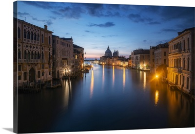 Canal Grande From The Accademia Bridge, With The Salute In The Background, Venice, Italy