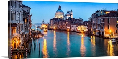 Canal Grande with view towards Santa Maria Della Salute, Venice, Italy
