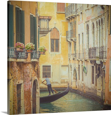 Canal In The San Marco Area, Venice, Veneto, Italy