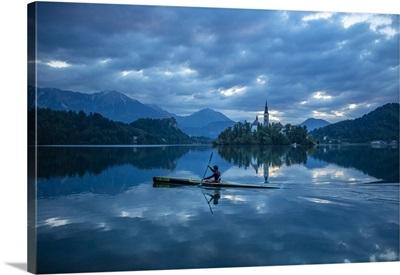 Canoeing, Lake Bled, Slovenia