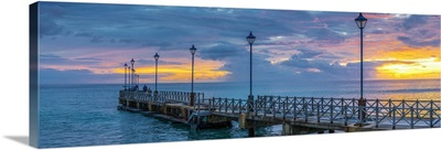 Caribbean, Barbados, Speightstown at Sunset