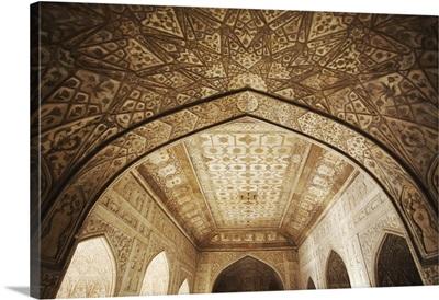 Ceiling of Khas Mahal in Agra Fort, Agra, Uttar Pradesh, India