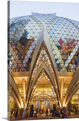 China, Macau, Grand Lisboa and Casino Lisboa Hotel and Casino Entrance