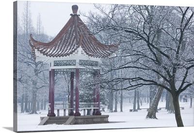 China, Shandong Province, Qingdao, Old Town, Luxun Park pagoda