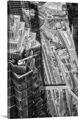 China, Shanghai, View over Pudong Financial District, Jin Mao Tower (near)