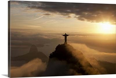 Christ the Redeemer statue, on Corcovado mountain in Rio de Janeiro, Brazil