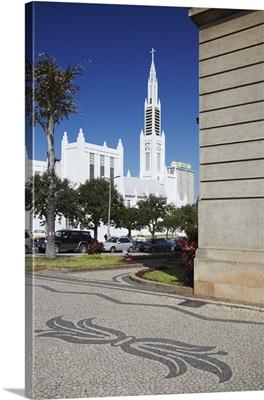 City Hall and Cathedral of Nossa Senhora de Conceicao, Maputo, Mozambique