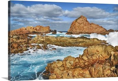 Cliff Landscape At Sugarloaf Rock, Australia, Southwest, Cape Naturaliste