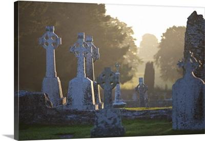 Clonmacnoise Monastery, Co Offaly, The Midlands, Ireland