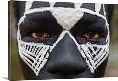 Close-Up Portrait Of A Maasai Warrior In The Protected Ngorongoro Area, Tanzania