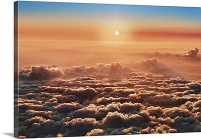 Cloud Impression Seen From Santa Maria Volcano, Guatemala, Quezaltenango, Santa Maria