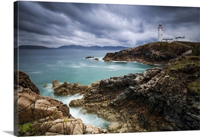 Cloudy Day At Fanad Head Lighthouse, Letterkenny, Donegal, Ireland, Northern Europe