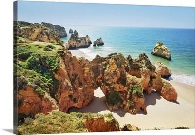 Coast Impression Praia Dos Tres Irmaos, Portugal, Algarve, Alvor, Praia Dos Tres Irmaos