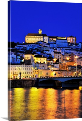 Coimbra and the Mondego river at sunset, Portugal