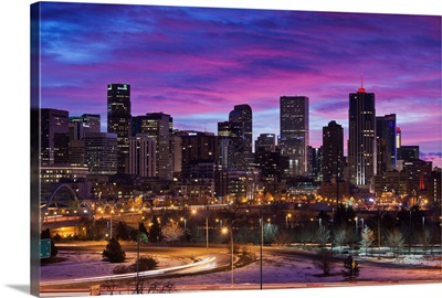 Colorado, Denver, city view from the west