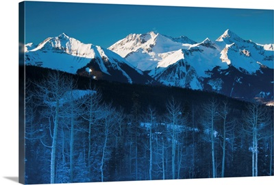 Colorado, Telluride, morning view of the San Miguel Mountains