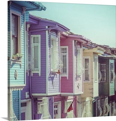 Colourful Ottomon Era Houses, Balat, Istanbul, Turkey