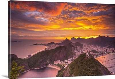 Copacabana beach and Rio de Janeiro from the Sugar Loaf, Brazil