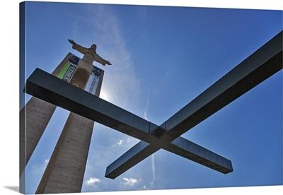 Cristo Rei monument in Pragal, Sobreda, Lisbon, Setubal, Portugal