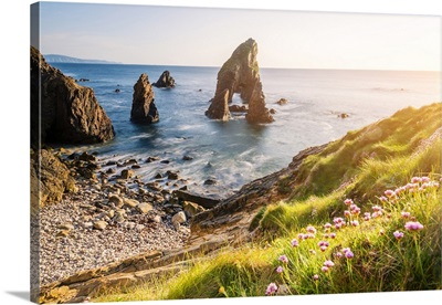Crohy Head, County Donegal, Ulster region, Ireland, Sea arch stack and coastal cliffs