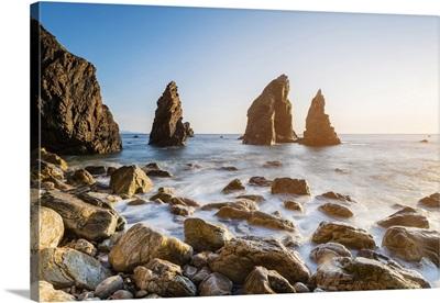 Crohy Head, Ulster region, Ireland, Sea arch stack and coastal cliffs