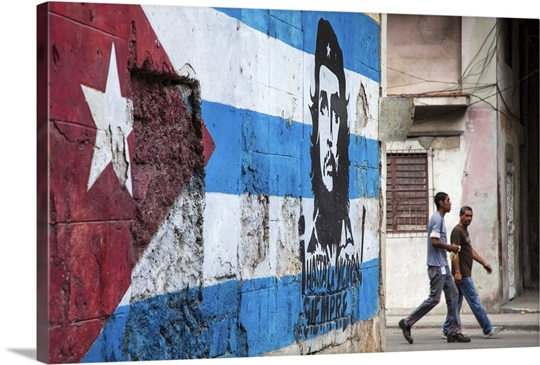 Cuban flag mural, Havana, Cuba Wall Art, Canvas Prints, Framed ...