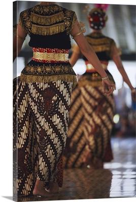 Dancers of gamelan performance inside Kraton Yogyakarta, Java, Indonesia