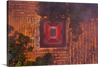Devotees Attend Prayer With Burning Incense And Light Oil Lamps, Narayanganj, Bangladesh