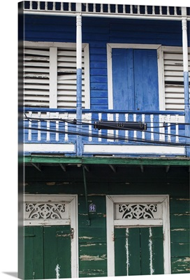 Dominican Republic, Puerto Plata, Old Victorian wooden house