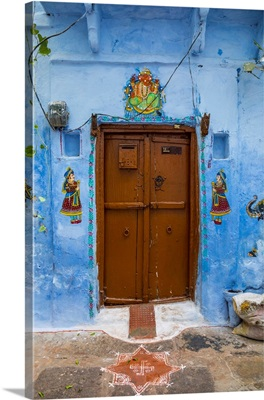 Door Detail In The Old Town Of Udaipur, Rajasthan, India