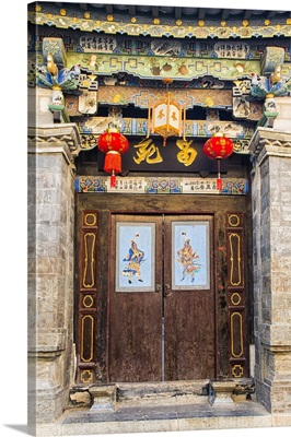 Door in Tuanshan historical village, Yunnan, China