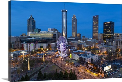 Downtown and the Centennial Olympic Park in Atlanta, Georgia, United States of America