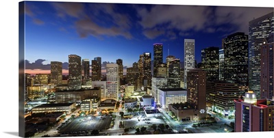 Downtown City Skyline, Houston, Texas