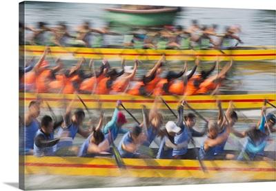 Dragon boat race, Shau Kei Wan, Hong Kong Island, Hong Kong