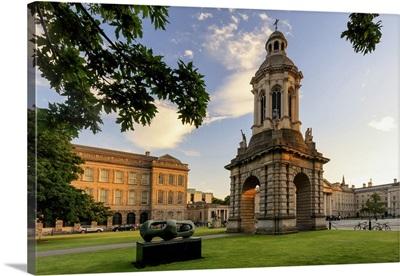 Dublin, Ireland, Trinity College at sunset